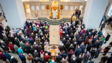 Photo of Литургия в храме Сретения Господня 19 января