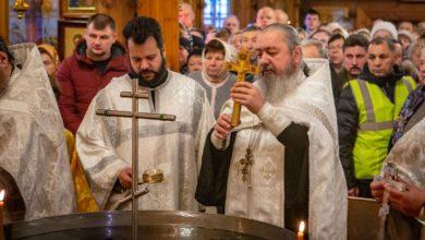 Photo of Литургия в храме Св. пр. Иоанна Кронштадтского и Великое водоосвящение